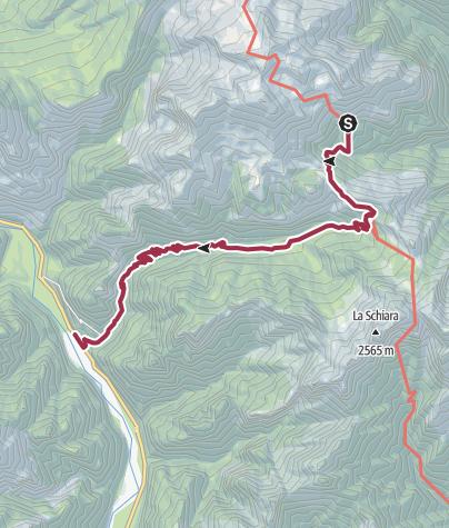 Map / Wanderung nach La Muda. Bus nach Belluno.