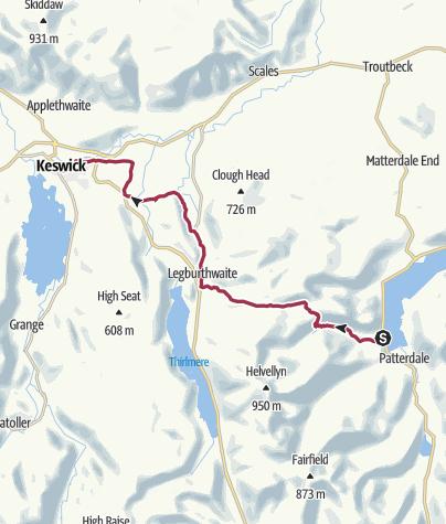 Map / Wanderung nach Keswick