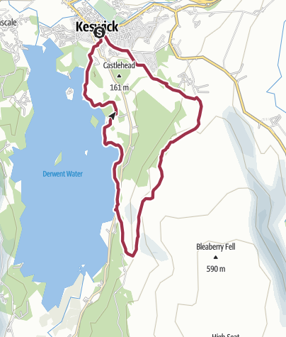 Kaart / Derwent Water und Walla Crag Rundwanderweg