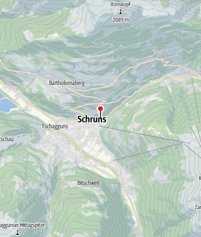 Karte / Blick auf Schruns