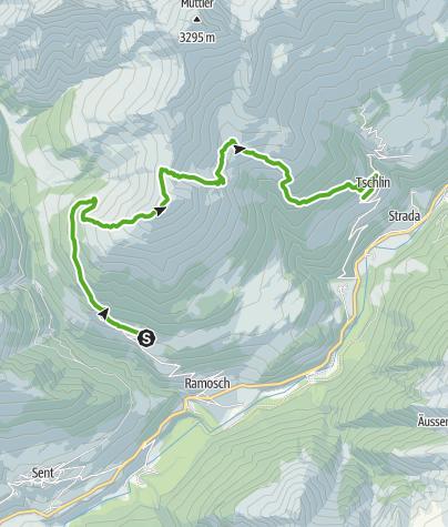 Map / Vnà - Alp Pradatsch - Piz Arina - Craistota - Tschlin