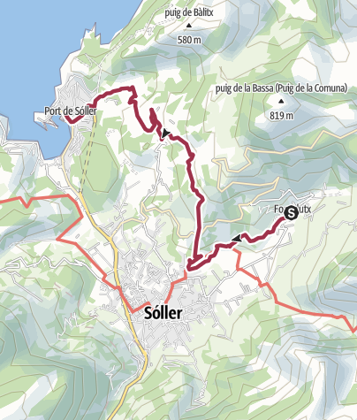 Map / Wanderung nach Port de Sóller und Tramfahrt nach Sóller