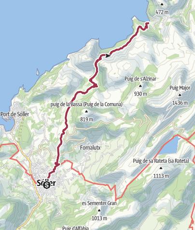 Map / Sóller - Verschiedene Wanderungen: Cala Tuent