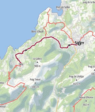Map / Wanderung nach Deià & Busfahrt nach Valldemossa