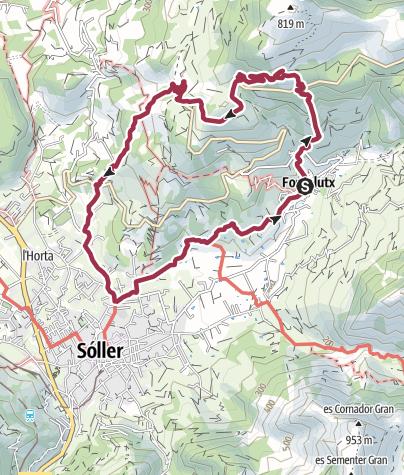 Carte / Rundwanderung von Fornalutx