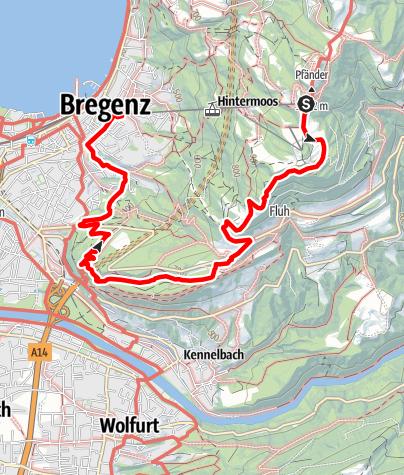 Karte / Vom Pfänder über Fluh zum Gebhardsberg