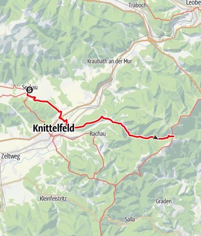 Karte / 1. Etappe Anschlussweg Weststeirischer Jakobsweg von Seckau