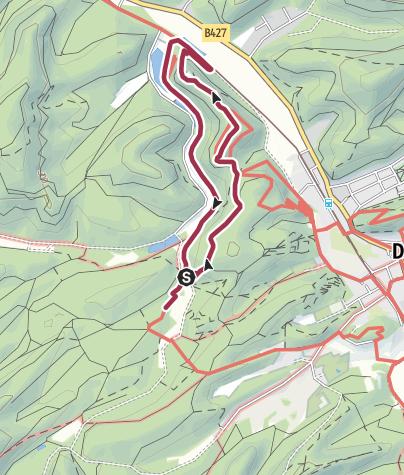 Map / Spazierwanderweg Burg Neudahn-Tour