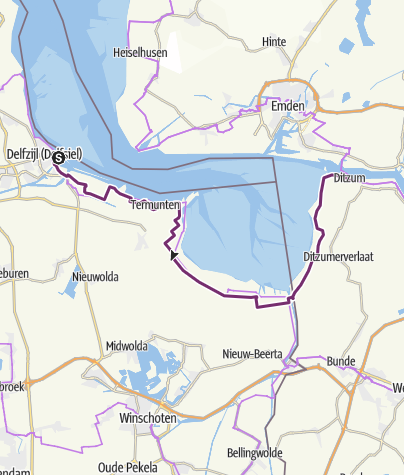 Karte / Int. Dollard Route - Alternativstrecke um den Dollart