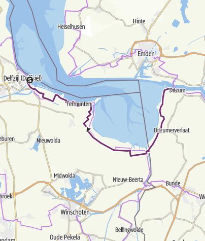 Map / Int. Dollard Route - Alternativstrecke um den Dollart
