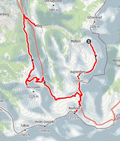 Karte / Fürstin-Gina-Weg mit alpinem Supplement
