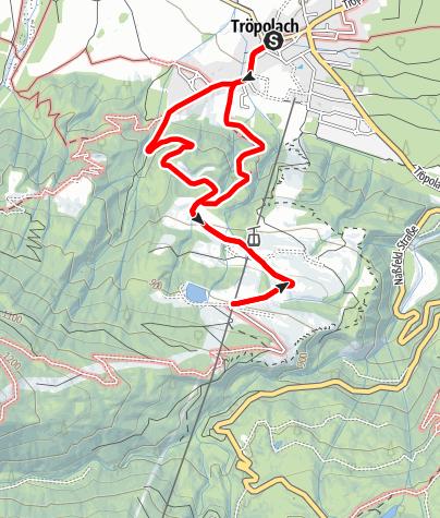 Karte / Wanderung zur St. Leonhard Kirche - Jausenstation Ederhof