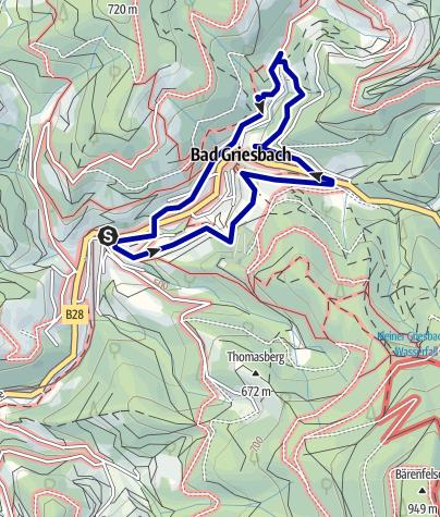 Karte / Panoramaweg rund um Bad Griesbach