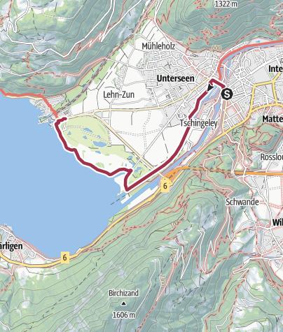 Karte / Unterseener Uferweg