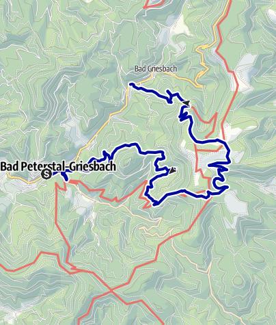 Karte / Wanderung zum sagenumwobenen Glaswaldsee