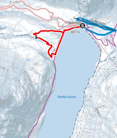 Karte / Silvretta-Bielerhöhe Staumauerrundweg