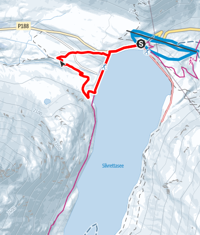 Kaart / Silvretta-Bielerhöhe Staumauerrundweg