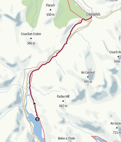 Map / Wanderung auf dem West Highland Way nach Crianlarich