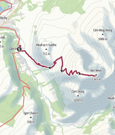 Map / Aufstieg auf Ben Nevis