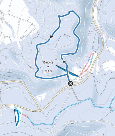 Karte / Rimberg - Loipe