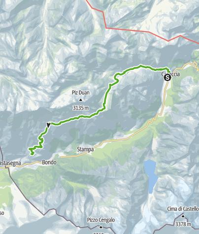 Map / Über die Val da Cam
