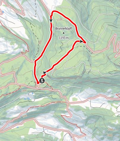 Karte / St. Koloman:  Wilhelmskapelle über Kneil zur Trattbergpanoramastrasse