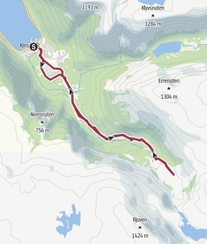 Map / The Husedalen Waterfall Walk