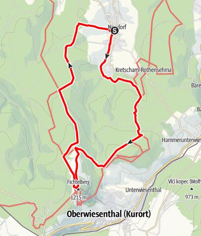 Karte / Auf das Dach der Sachsen (Sehmatal)