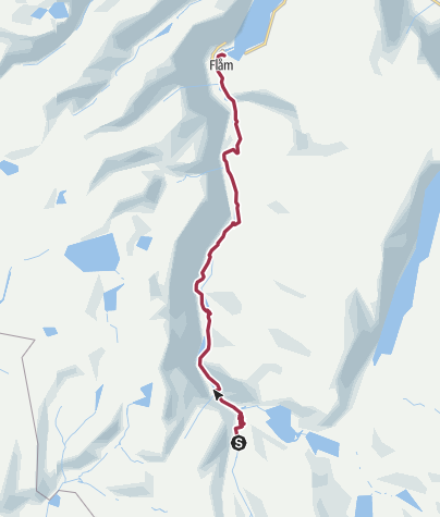 Map / Myrdal to Flam