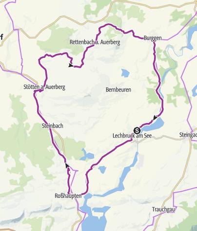 Karte / 11. ABK Allgäuer Radltour - Genussrunde