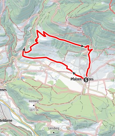 Kaart / Honigbergweg