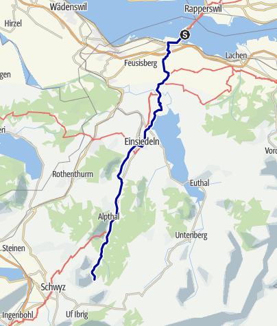 Karte / Pforzheim – Mittelmeer: 12.Etappe Hurden - Holzegg