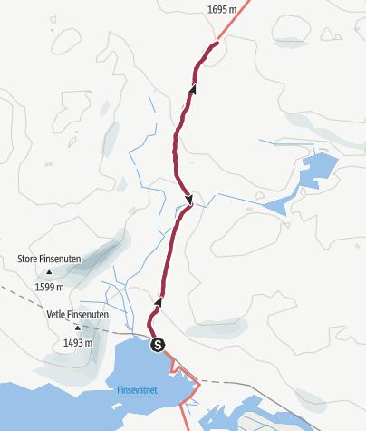 Map / Finse to Klemsbu Hytte