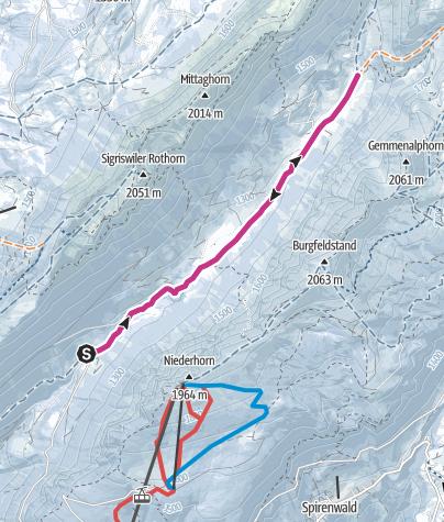 Karte / Winterwanderweg Justistal