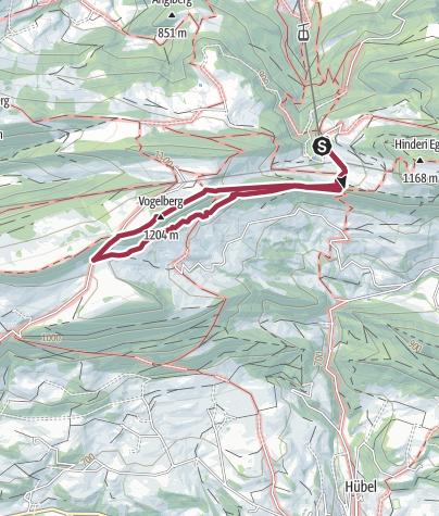 Karte / Rundwanderung Passwang-Obere Wechten