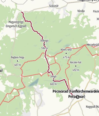 Map / Pécsváradról Kárászra a Zengőn át
