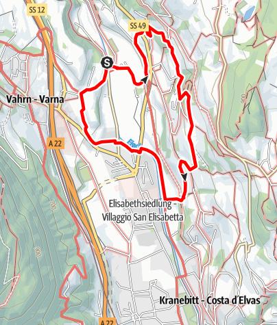 Karte / Törggele Rundweg in Neustift