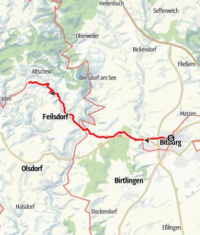 Karte / Mosel-Our-Weg (16) - 6. Etappe