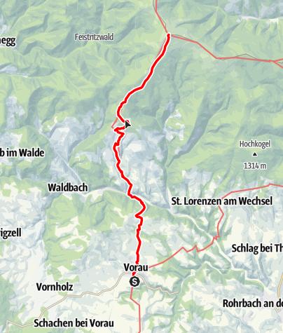 """Karte / """"alpannonia"""" - Zubringer Vorau"""