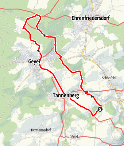 Karte / Durch das Greifenbachtal - Waldgasthof Am Sauwald (Glück Auf! Bergbaugeschichte erwandern)