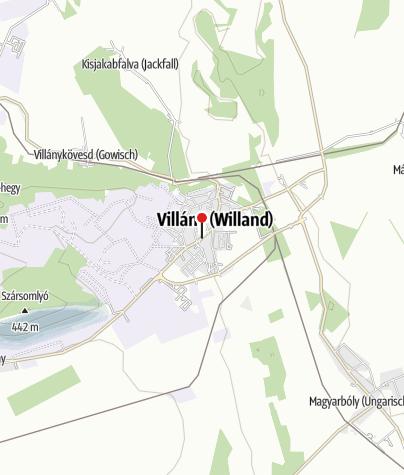 Map / Villány történelmi pincesora