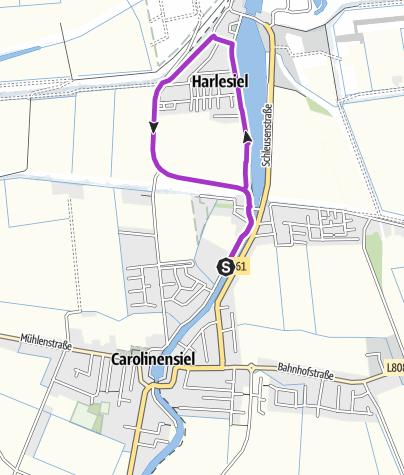 Map / Terrain-Thalasso-Kurweg 5 Nordseebad Carolinensiel-Harlesiel