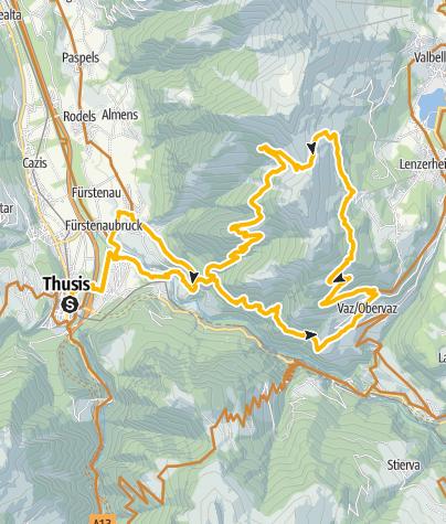 Karte / Piz Scalottas