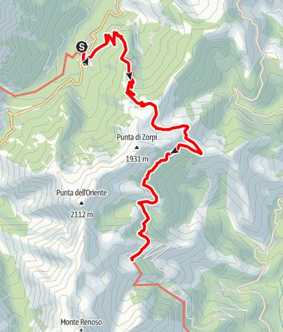 Kaart / GR20: Vizzavona - Capannelle (Etappe 10)