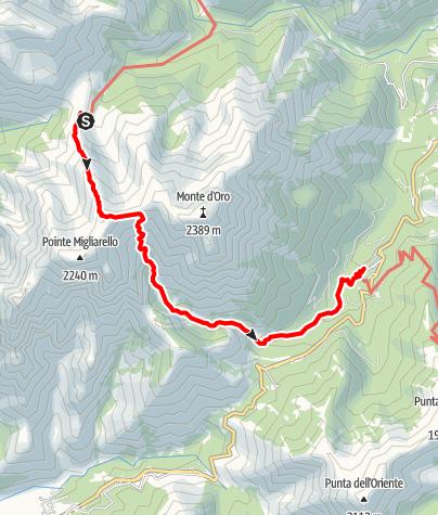 Kaart / GR20: L'Onda – Vizzavona (Etappe 9)