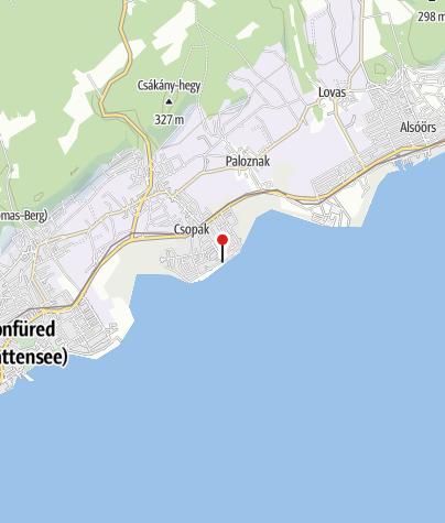 Térkép / Csopak - Községi strand