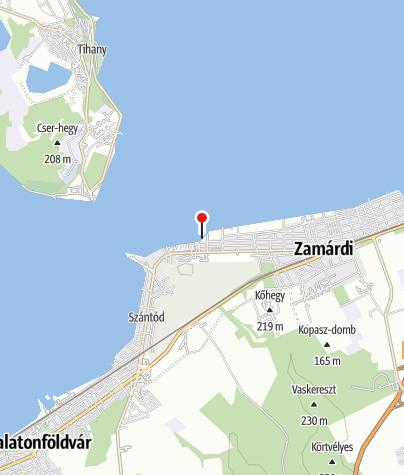 Karte / Keszeg utcai szabadstrand, Zamárdi