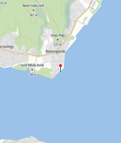 Map / Balatongyöröki Községi strand