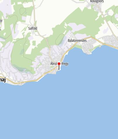 Map / Ábrahámhegyi községi strand