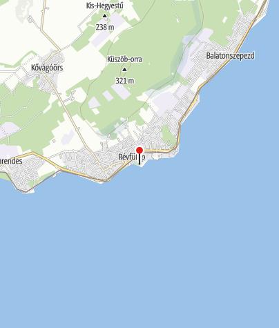 Karte / Szigeti strand, Révfülöp